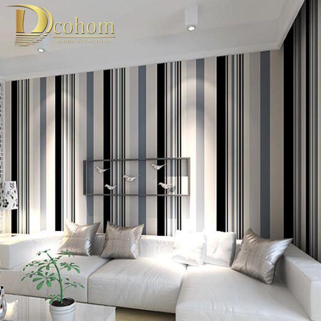 Aliexpress Com Buy Modern Simple Stripes Texture Wallpaper Embossed Wallpaper Bedroom Decor Envi Striped Wallpaper Living Room White Wall Decor Striped Walls