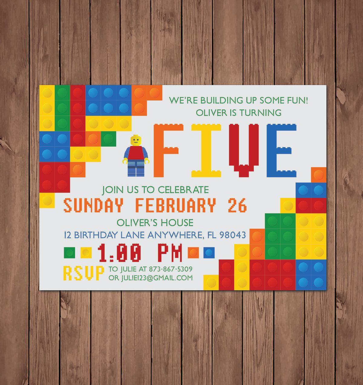 Lego birthday invitation, Lego birthday, Lego birthday party ...
