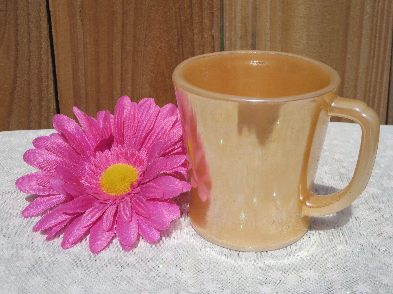 Fire King  Coffee TEA Cup  Peach Pink Vintage