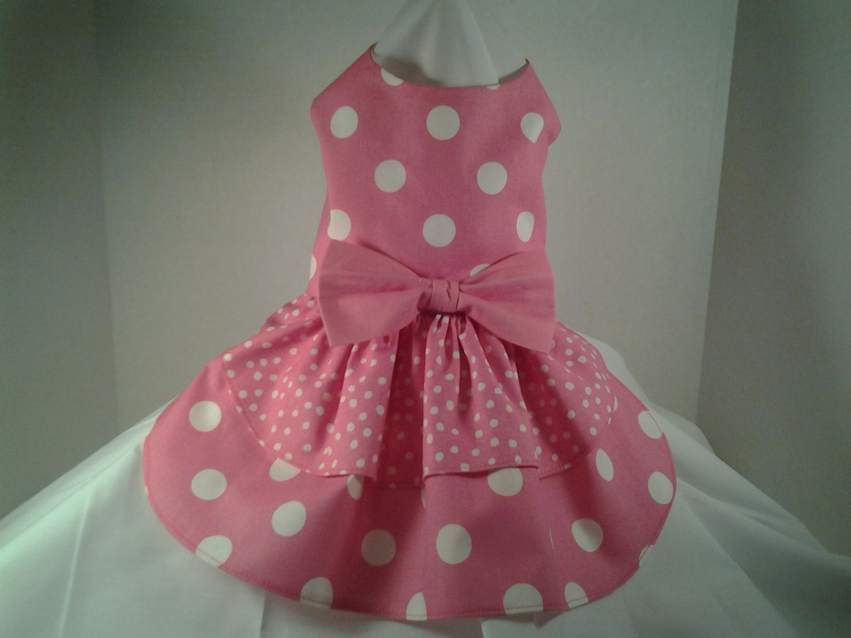 Dog dress Pink Polka Dots by chicdoggieattire on Etsy | Kyla and ...