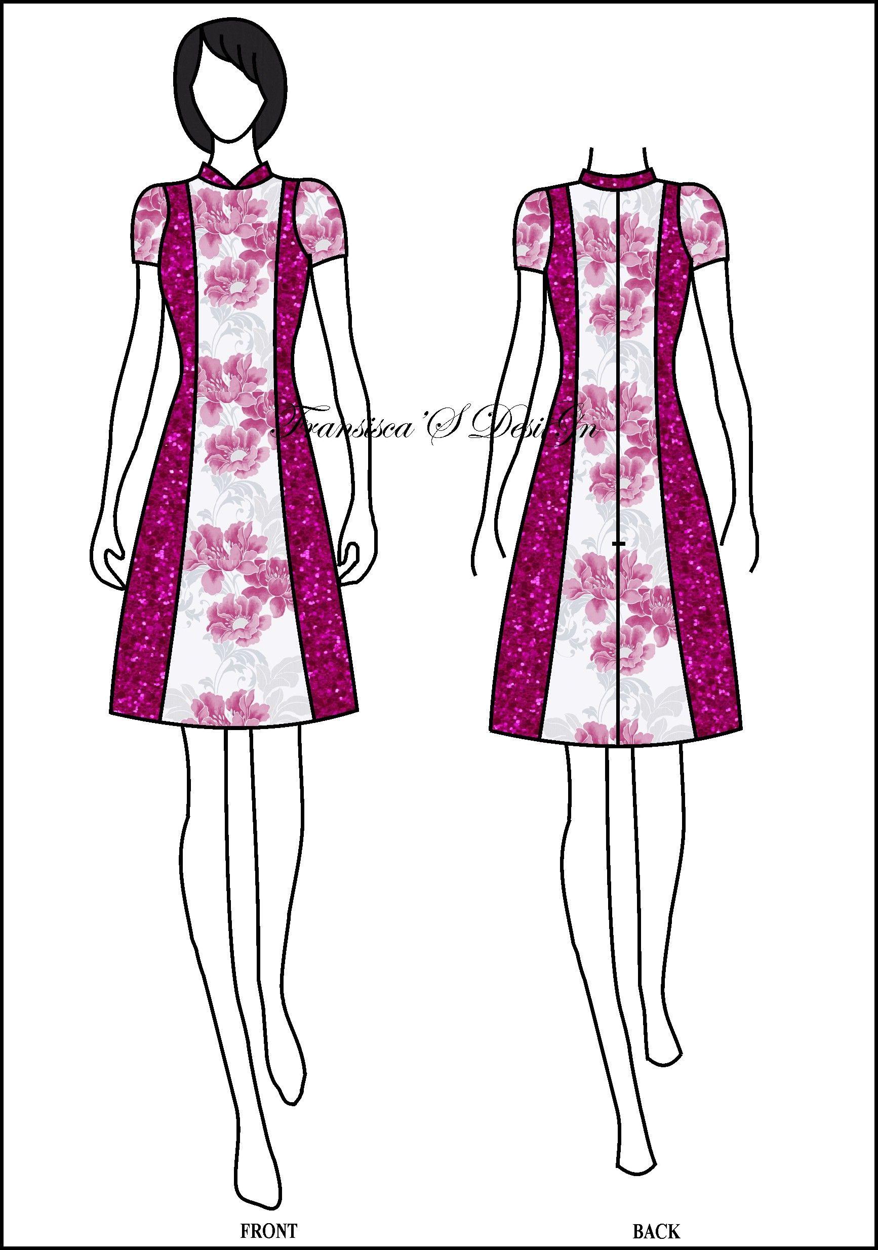 Dress A-line pias krah Shanghai. #FashionDesigner #Butik