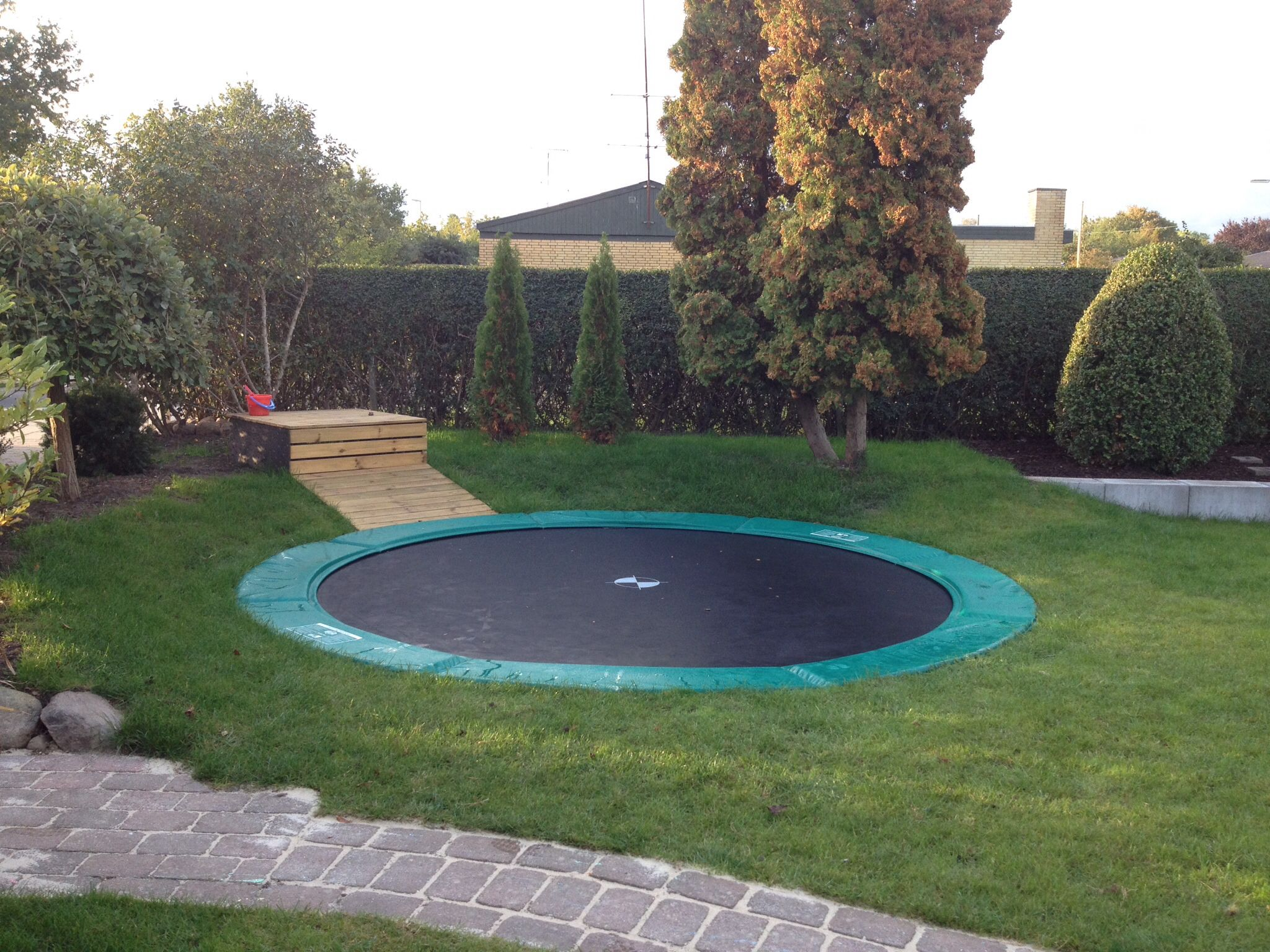 Berg Trampoline My New Inground Trampoline With And Airdock And A Great