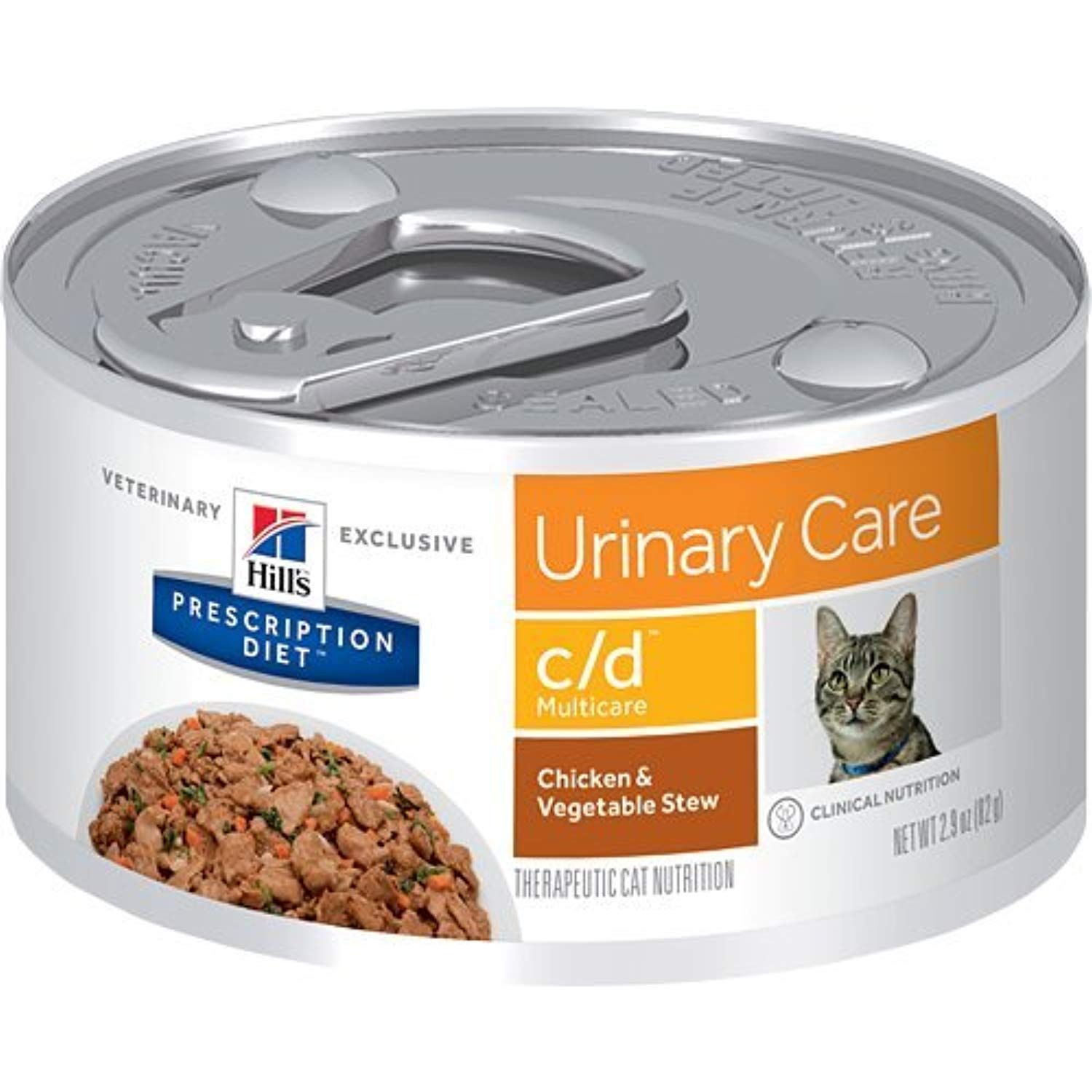 Hill S Prescription Diet C D Multicare Urinary Care Chicken And Vegetable Stew Canned Cat Food Hills Prescription Diet Chicken Vegetable Stew Animal Nutrition