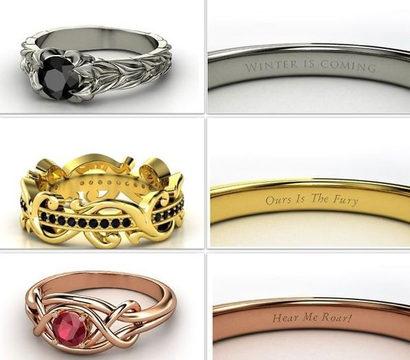 Game Of Thrones Inspired Rings Game Of Thrones Rings Game Of Thrones 3
