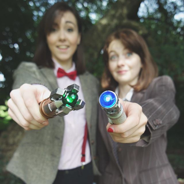 Pin for Later: 27 Wonderful Doctor Who Costume Ideas For Whovians Ten and Eleven These two totally nail the looks!