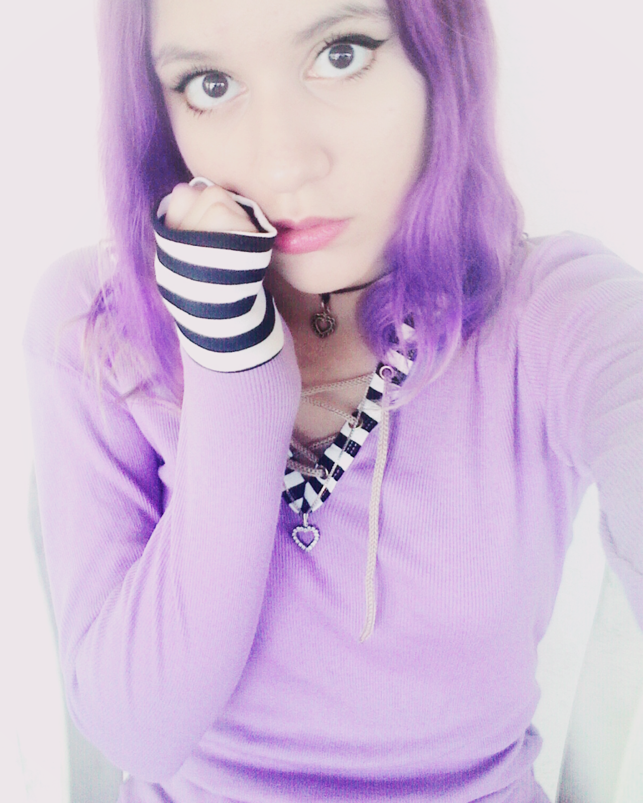 tags purple purple hair purple girl pale girl cute