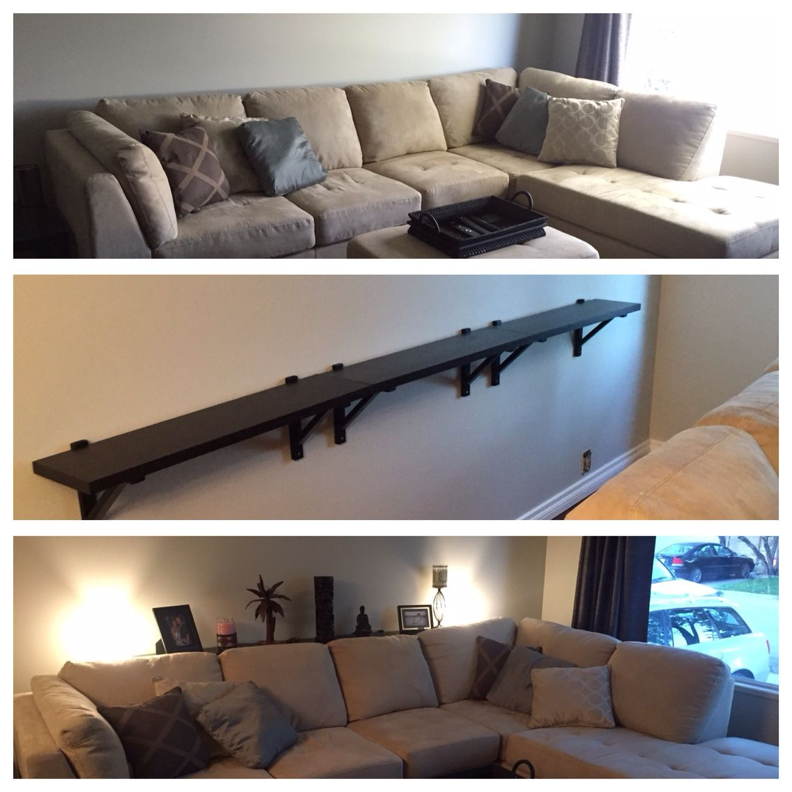 Sofa Table Diy Diy Sofa Table For 25 Using Stair Rails As Legs Makes It Easy To