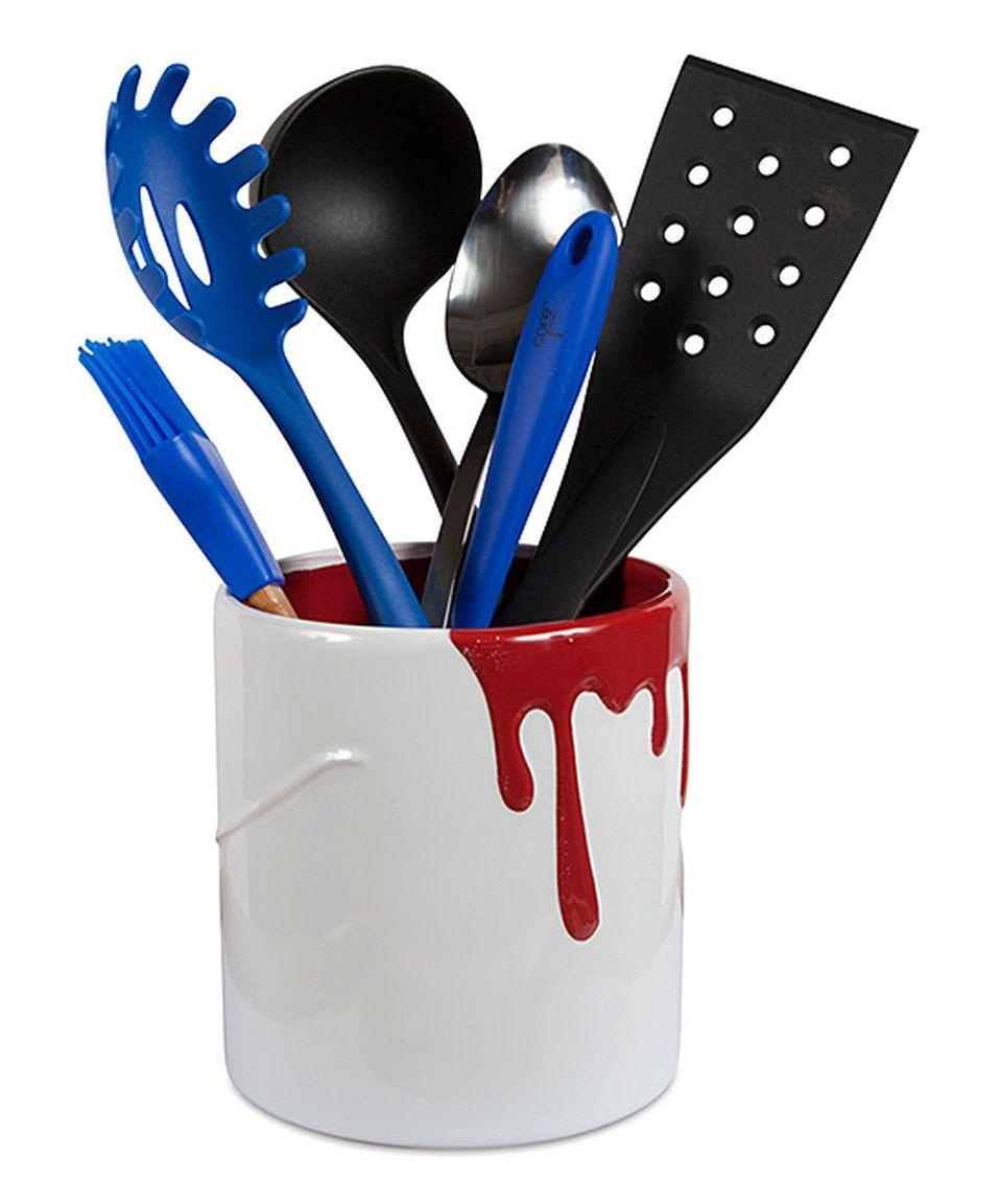 Another great find on #zulily! Strawberry Paint Bucket Utensil Holder by Core Kitchen #zulilyfinds