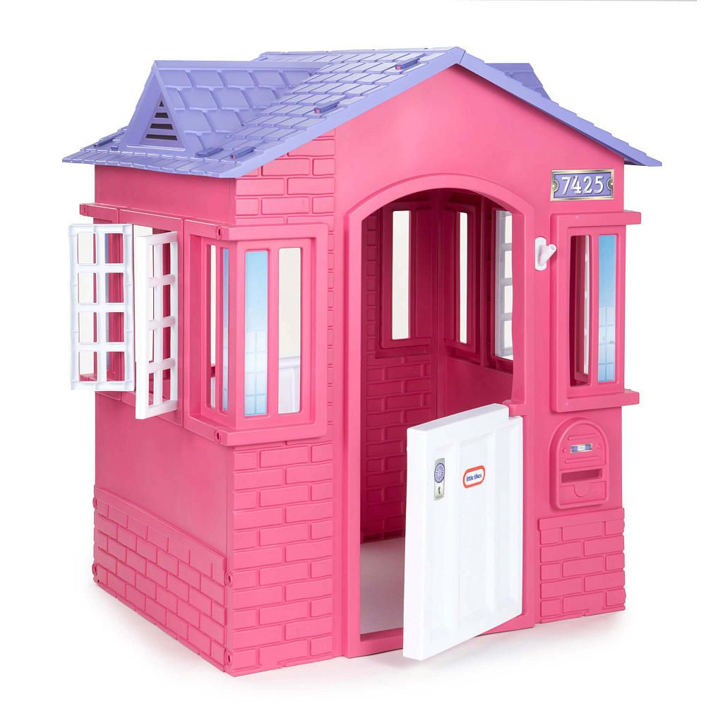 The Little Tikes Princess Cottage Playhouse is a little backyard ...