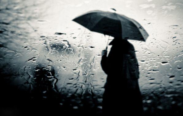 Wallpaper Glass Rain Divorce Man Raincoat Umbrella Slush Sadly Rainy Day Wallpaper Rain Wallpapers Rainy Mood