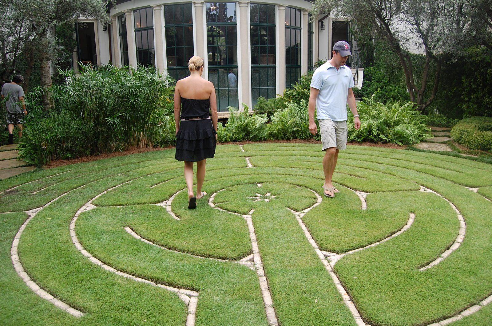 backyard labyrinth very simple and elegant labyrinths