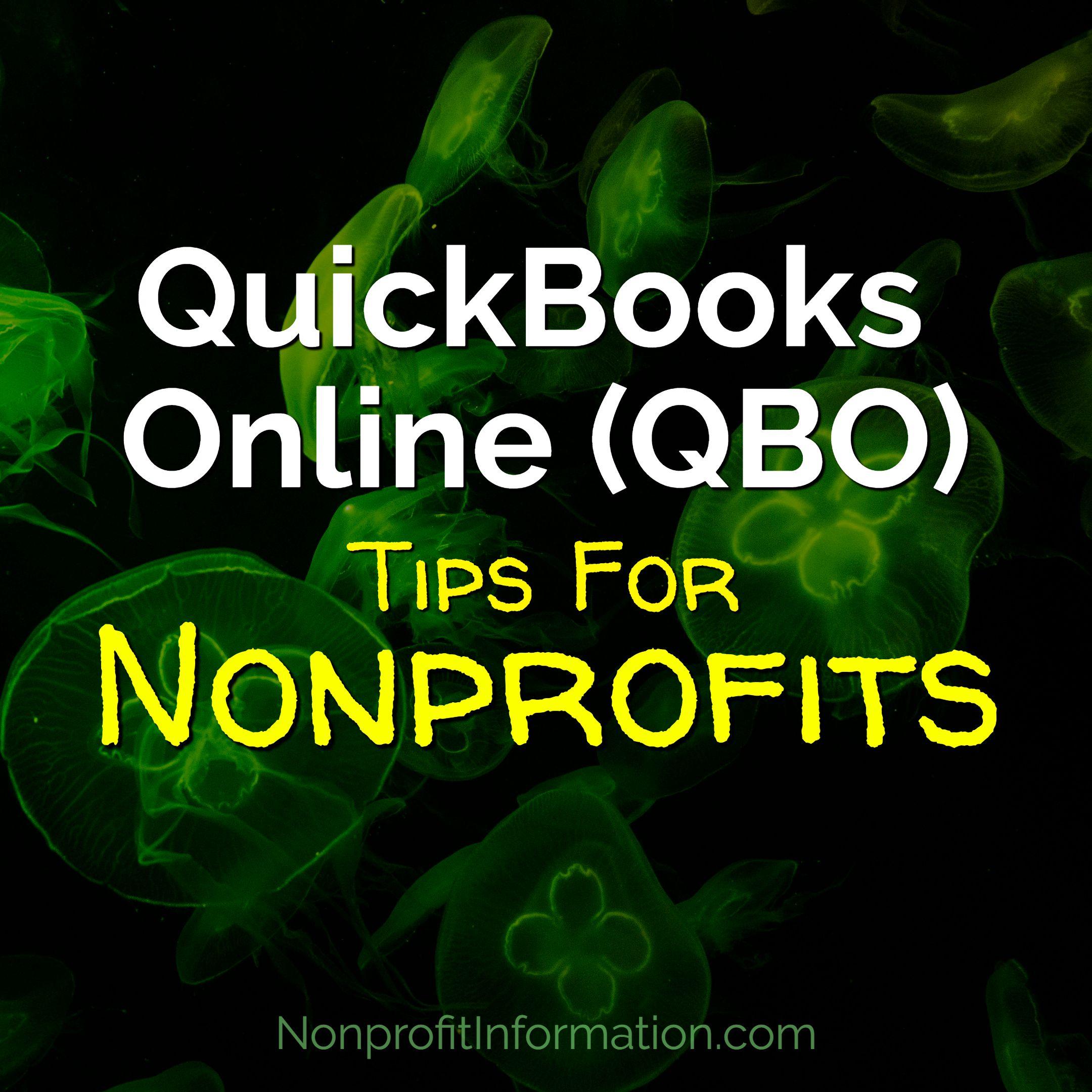 quickbooks online nonprofit