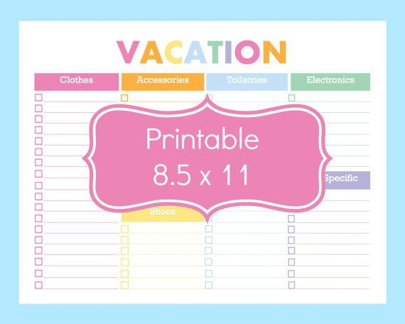 travel activity sheet - Google Search Activity Page Pinterest - packing checklist template