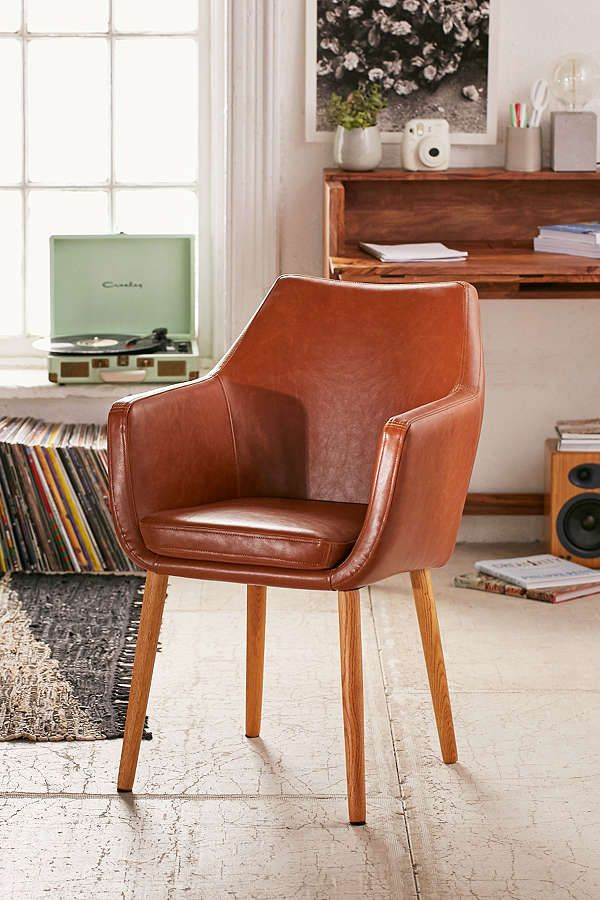 Nora Brown Saddle Chair Saddle Chair Accent Chairs For Living