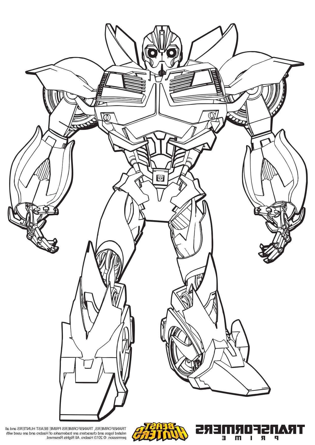 4 Bumblebee Transformer Coloring Page In