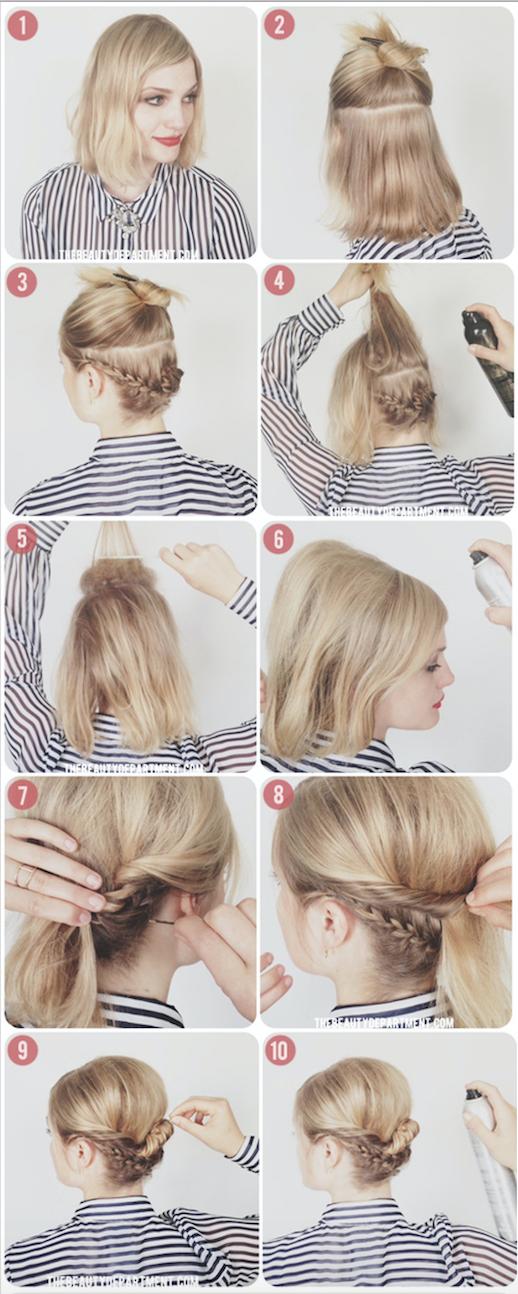 4 Tutos de coiffures tressées pour les cheveux courts