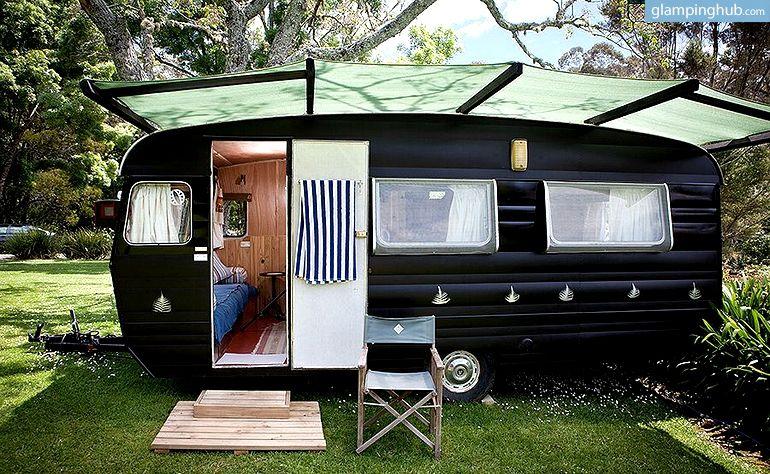 Caravan House New Zealand   Glamping Kerikeri New Zealand   Caravan  makeover, Caravan exterior, Caravan