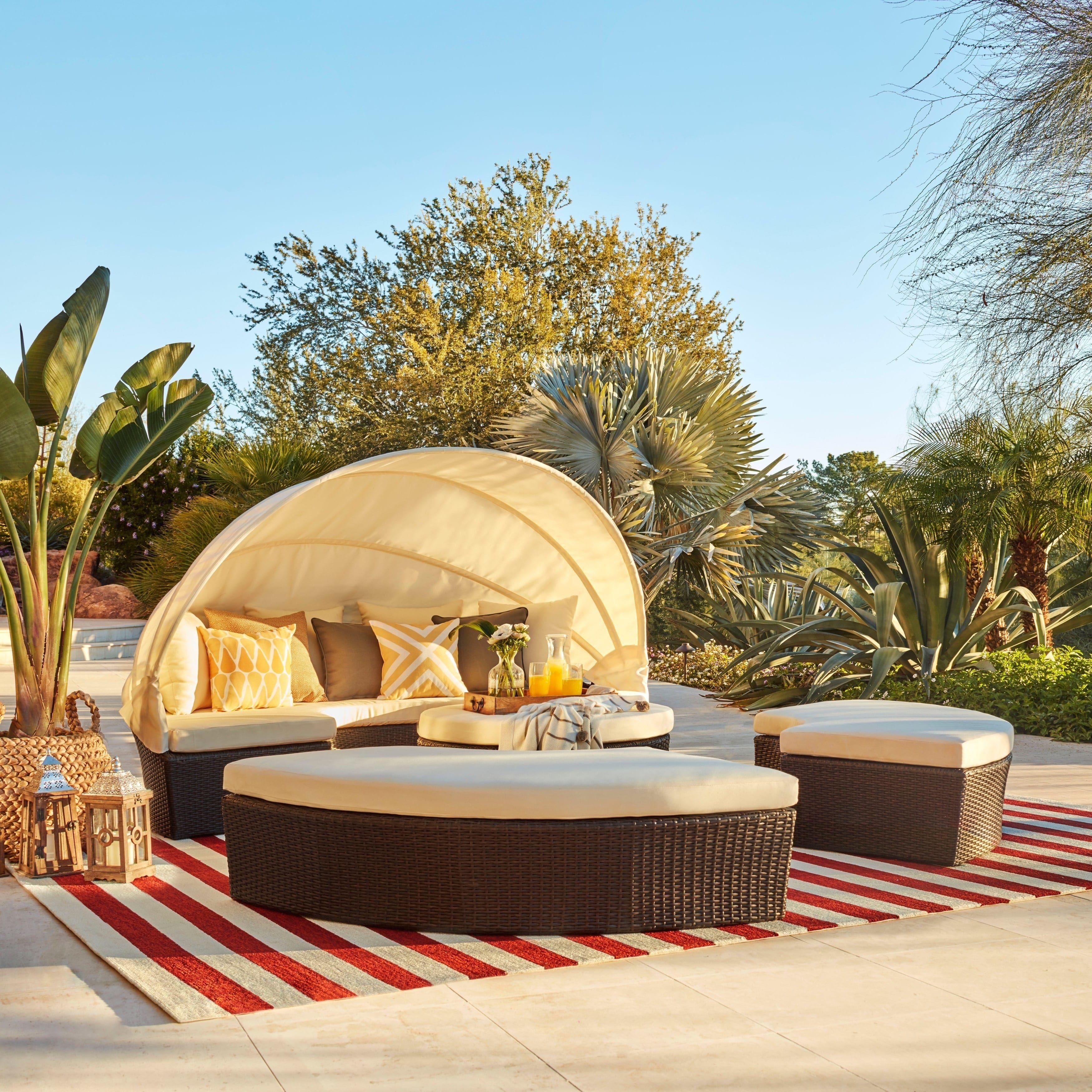 Patio Sun Shades Mesa Az: La Mesa 4-piece Cabana/ Canopy Set By Christopher Knight