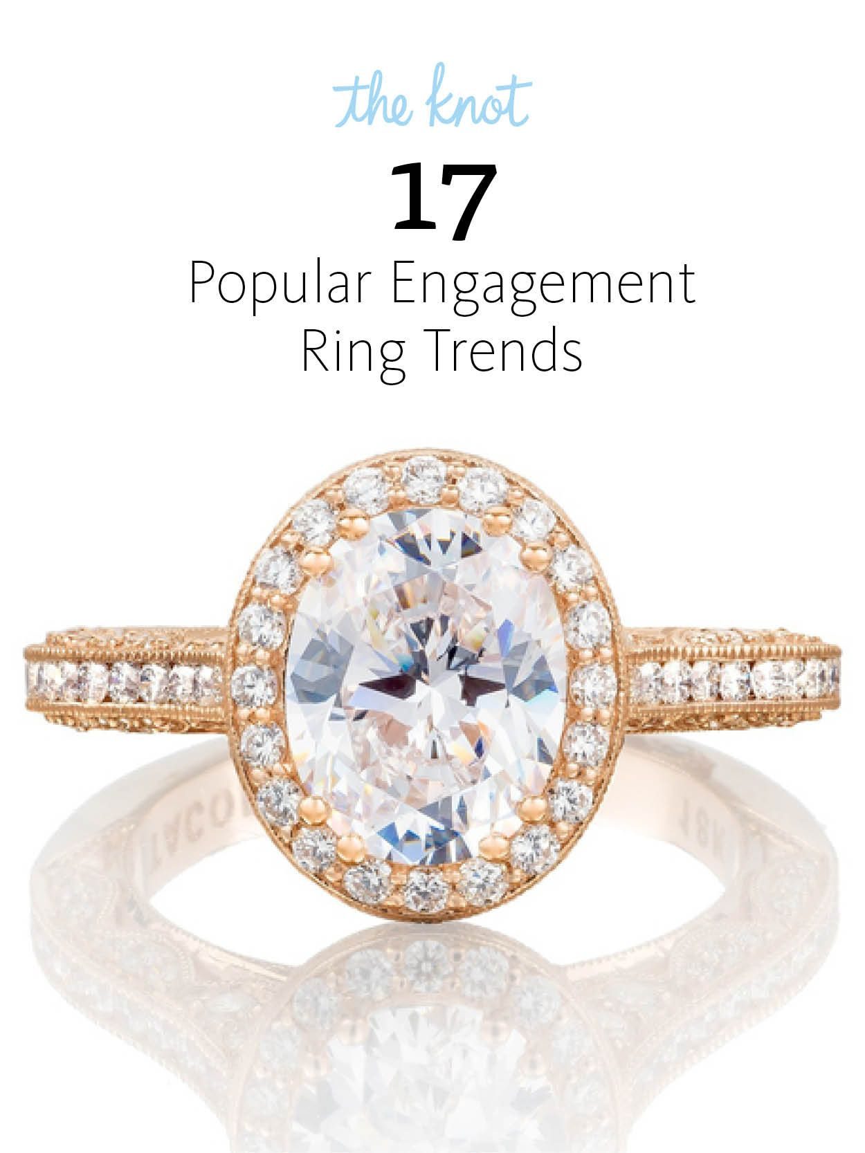 Seventeen of the hottest new engagement ring styles—straight from