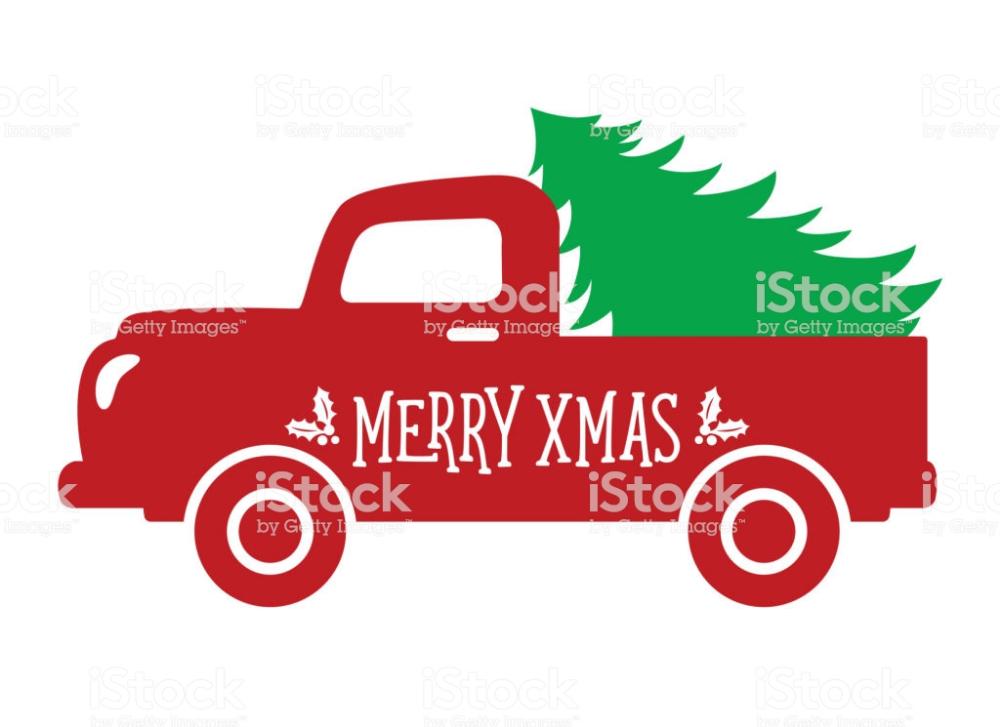 Vector Illustration Of An Old Vintage Truck With A Christmas Tree Vintage Truck Vector Illustration Stock Illustration