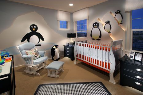 Penguins In The Nursery Are A Fun Touch Inspiring