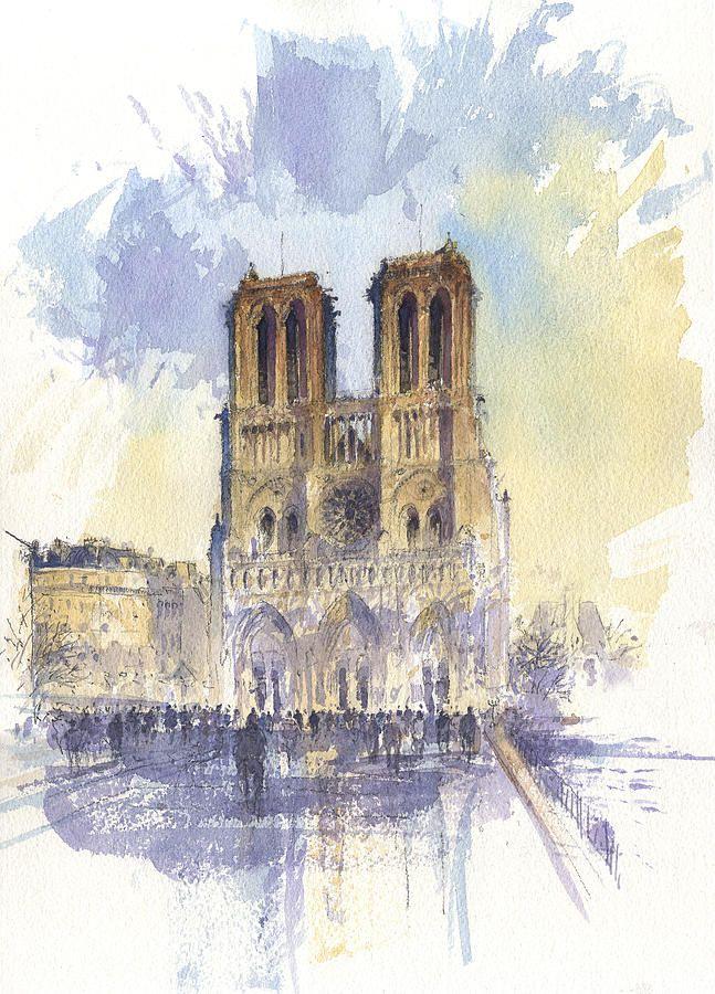 Notre Dame De Paris By Tony Belobrajdic Paris Painting Paris