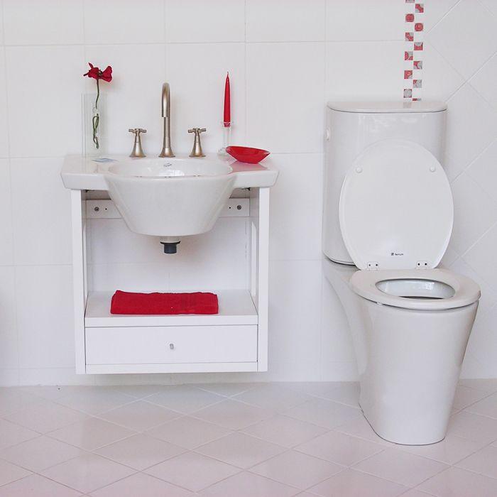 Construccion Set Bano Pared En Ceramica Blanca Mobiliario Ceramica Blanca Disenos De Unas