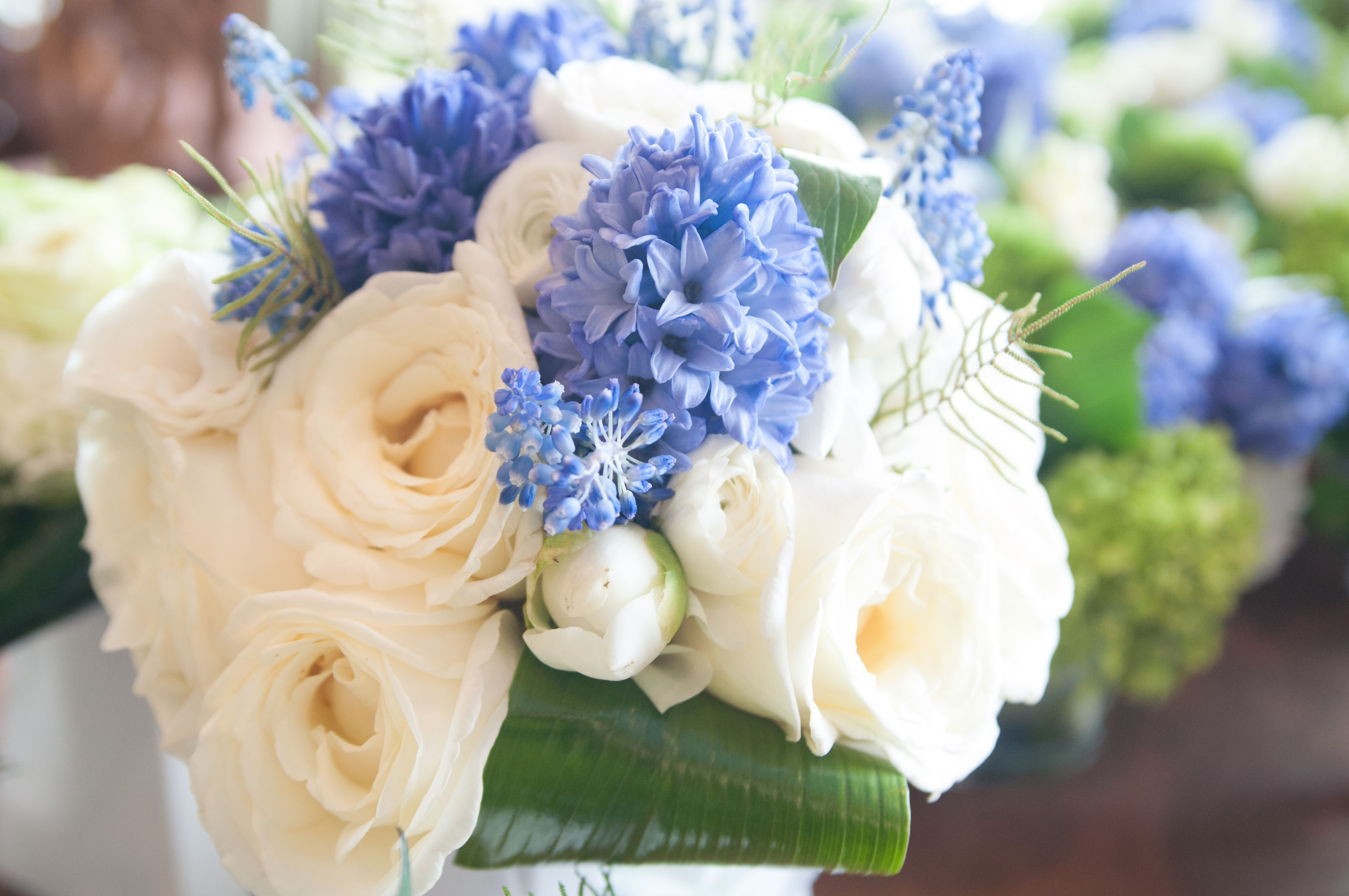 Blue And White Wedding Bouquets Buketi Pinterest White Wedding