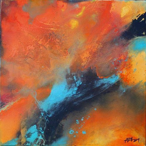 """Agnes Lang, """"'Farbmelange Orange l"""" Mit einem Klick auf 'Als Kunstkarte versenden' versenden Sie kostenlos dieses Werk Ihren Freunden und Bekannten."""