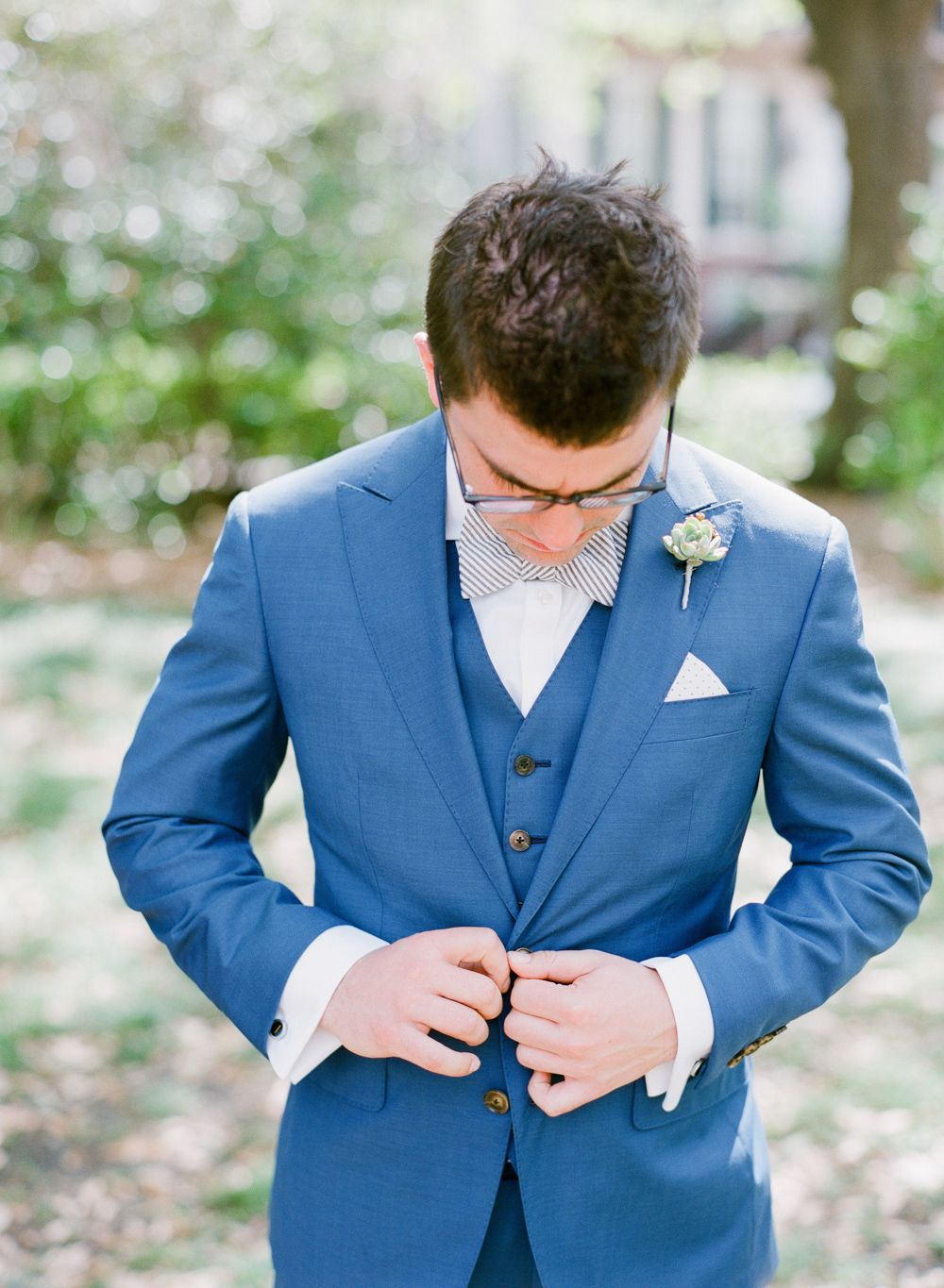 A Celebration That Embraces Its Southern Roots | Royal blue suit ...