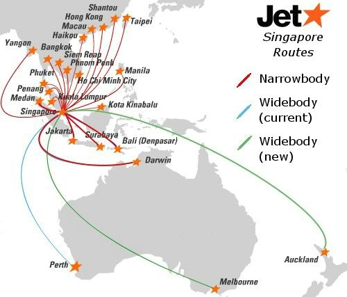 Jetstar Singapore Route Map | Map | Map, Jetstar, Travel posters