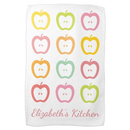 Apple Slices Personalized Summer Kitchen Towel Rhpinterest: Summer Kitchen Towels At Home Improvement Advice