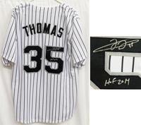 official photos ee1ba 3b95d Frank Thomas Signed White Pinstripe Custom Baseball Jersey w ...