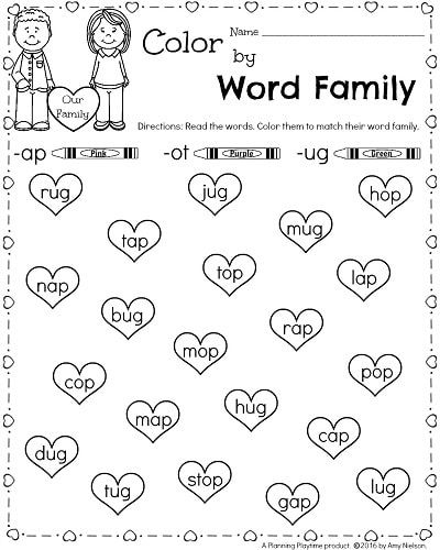 Kindergarten Math and Literacy Worksheets for February | Learning ...