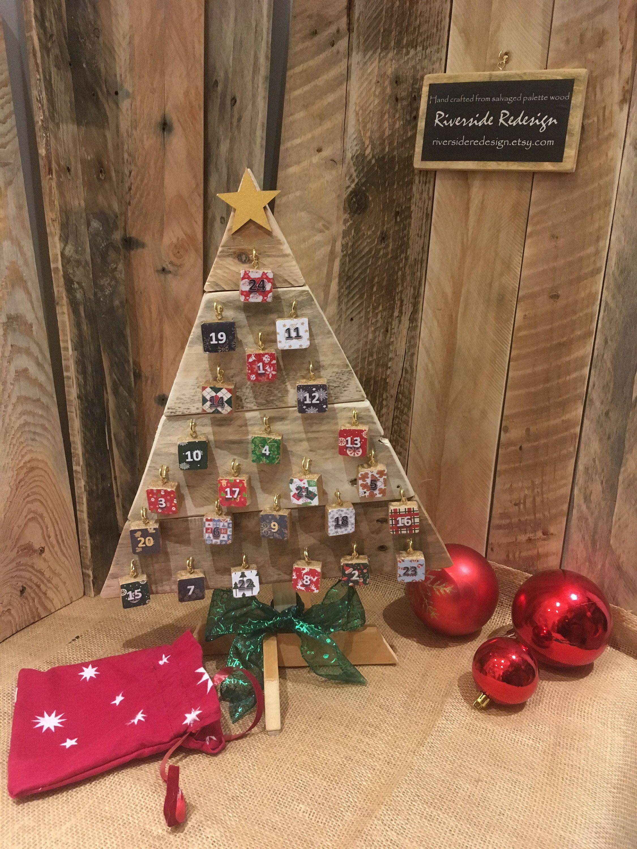Wooden Advent Tree Advent Calendar Christmas Countdown