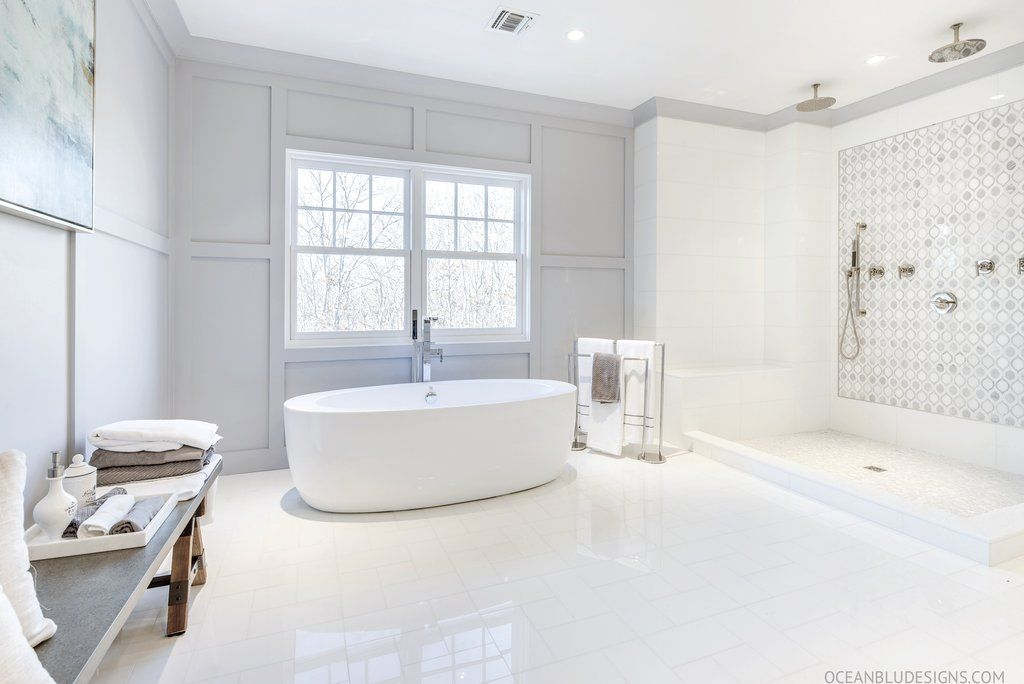 Modern Coastal Beach House Bathroom Designs Hamptons New York
