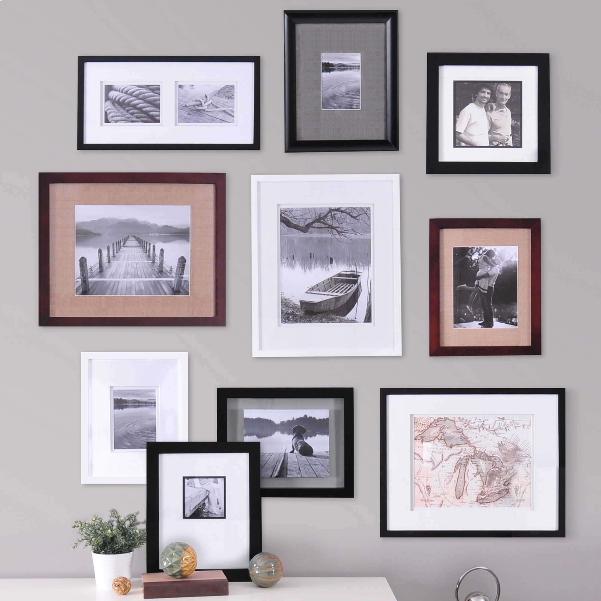 Real Simple Reg 10 Piece Portrait Frame Set Wall Frame Set Picture Arrangements On Wall Frames On Wall