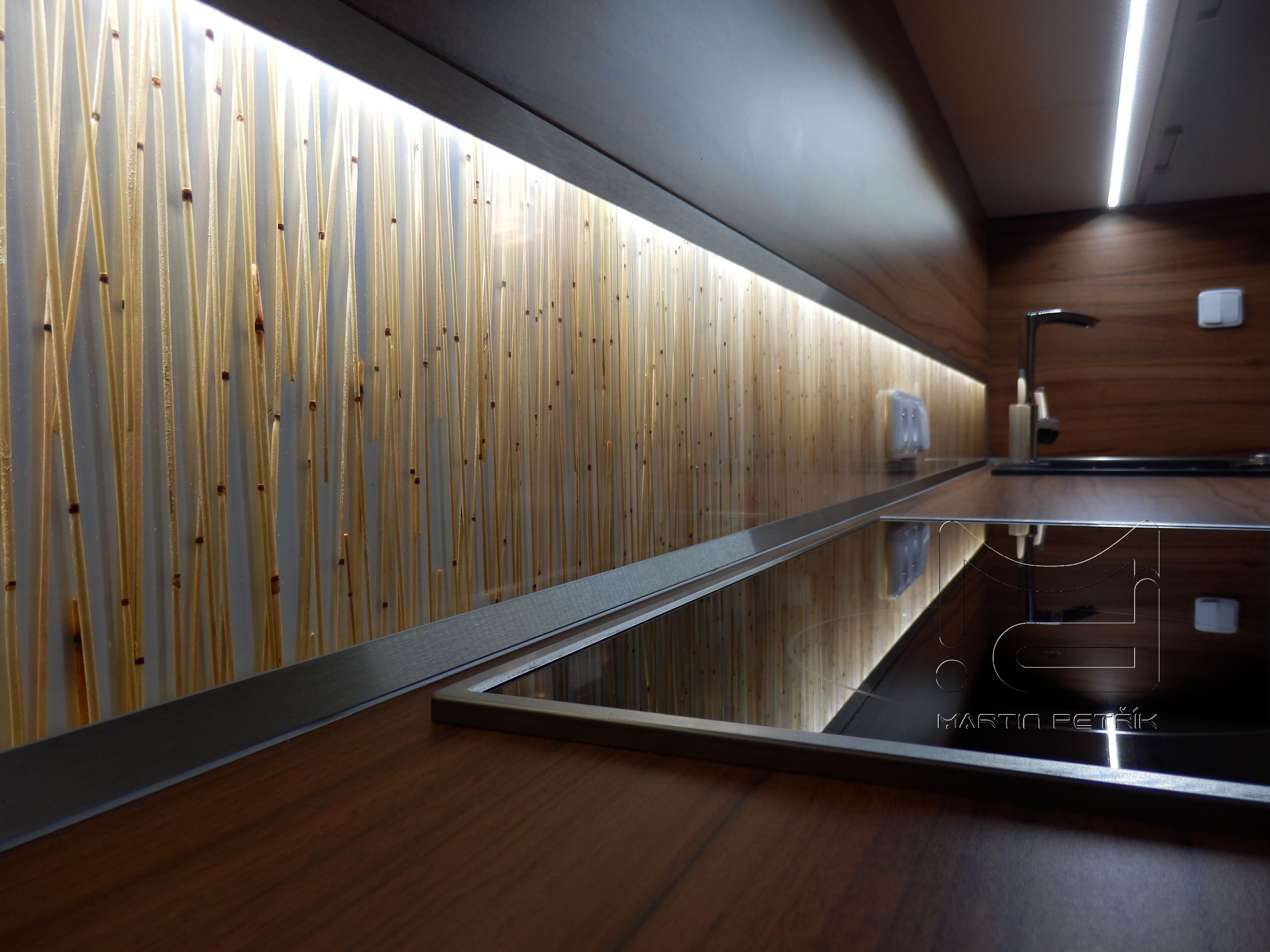 Back Splash Tiles With Organic Brown Bamboo Resin Acrylic Panel Panels Dekorakryl Kitchen Acrylic Wall Panels Interior Architecture Design Copper Tiles
