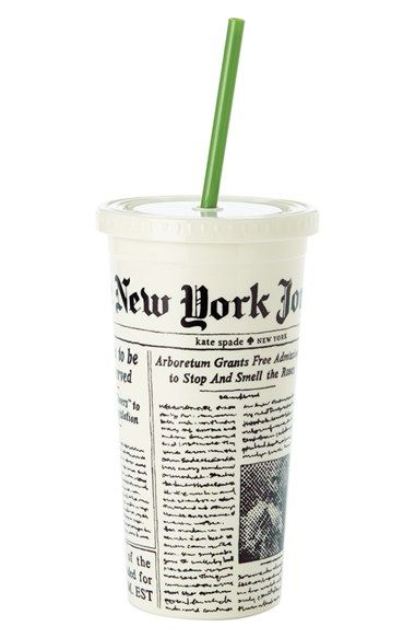 kate+spade+new+york+'media+newspaper'+insulated+tumbler+available+at+#Nordstrom