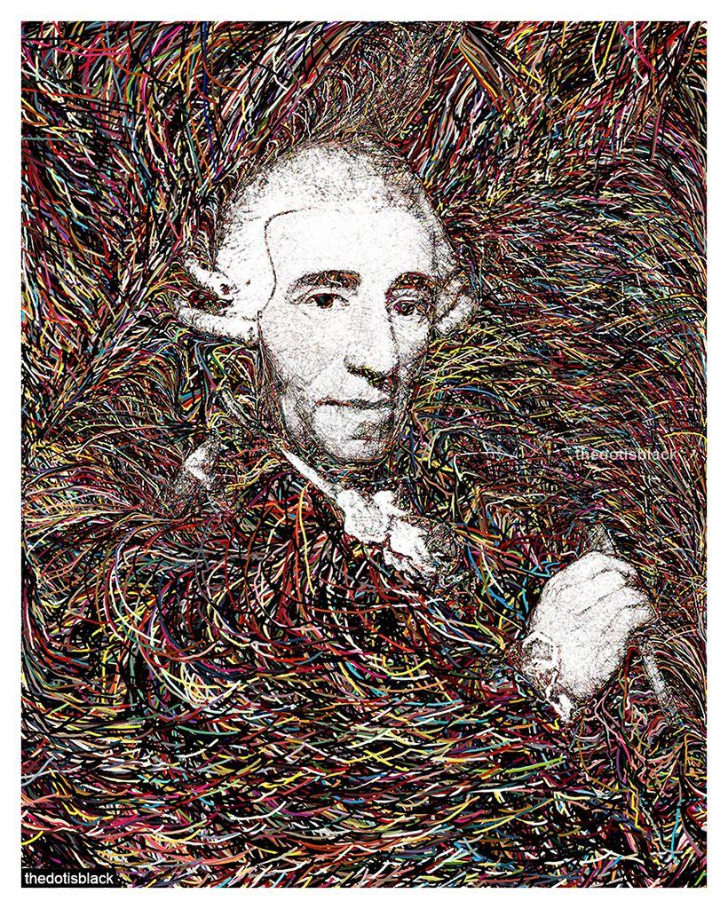Franz Joseph Haydn Generative Portrait Classical Music Composers Music Composers Classical Music