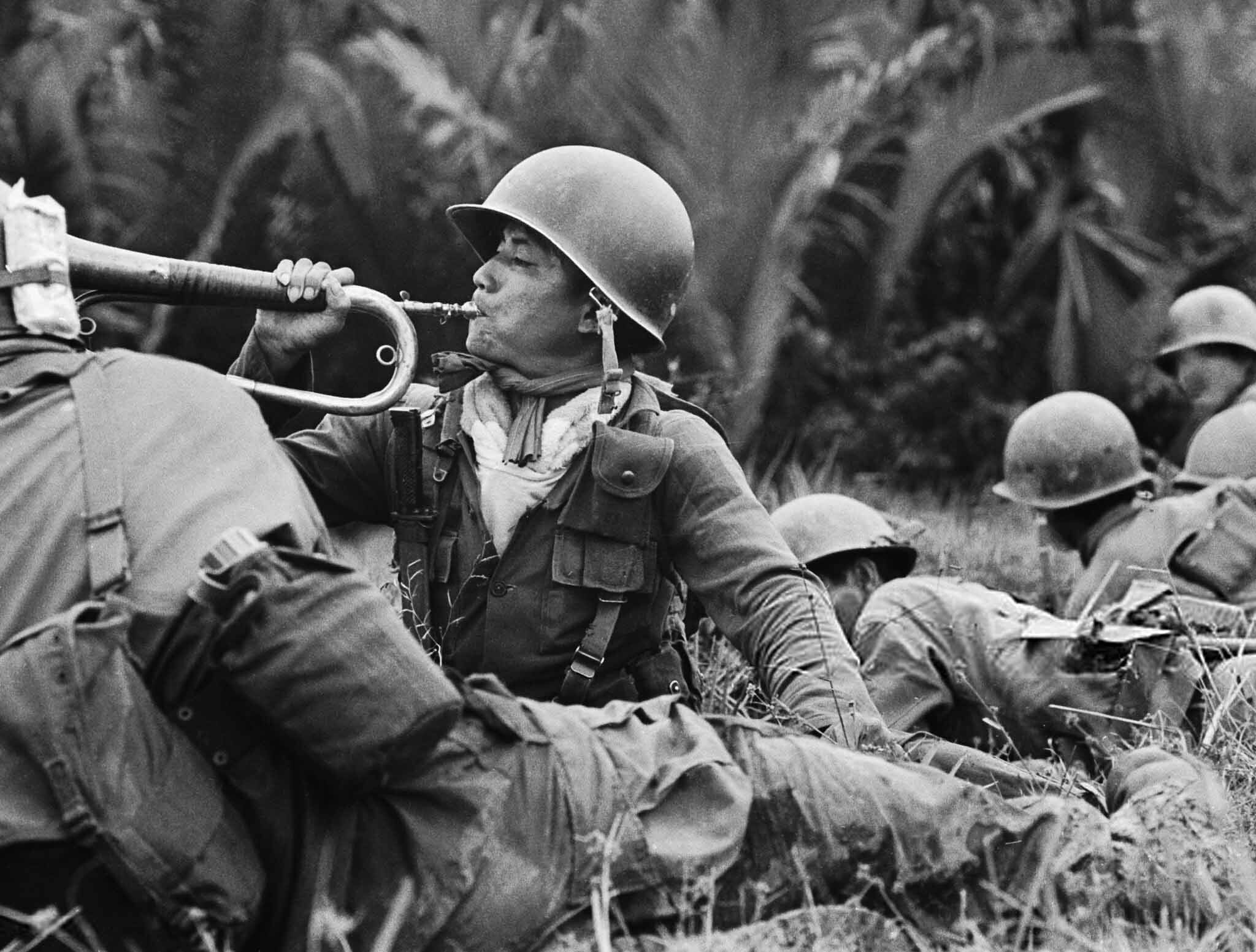 Vietnamese Bugler Sounds Call For Charge Vietnam