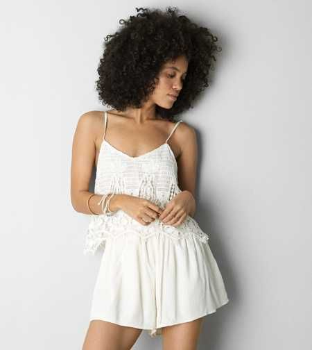 84bebeeae19a AEO Crocheted Front Romper. Perfect for every beach day.  AEOSTYLE ...