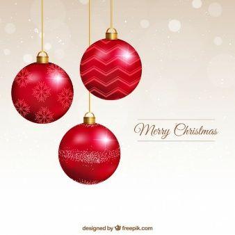 Tarjeta de bolas de navidad rojas estampas navidad - Bolas de navidad rojas ...
