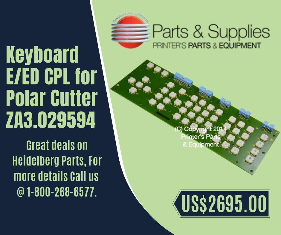 Keyboard E/ED CPL for Polar Cutter ZA3 029594 | Heidelberg
