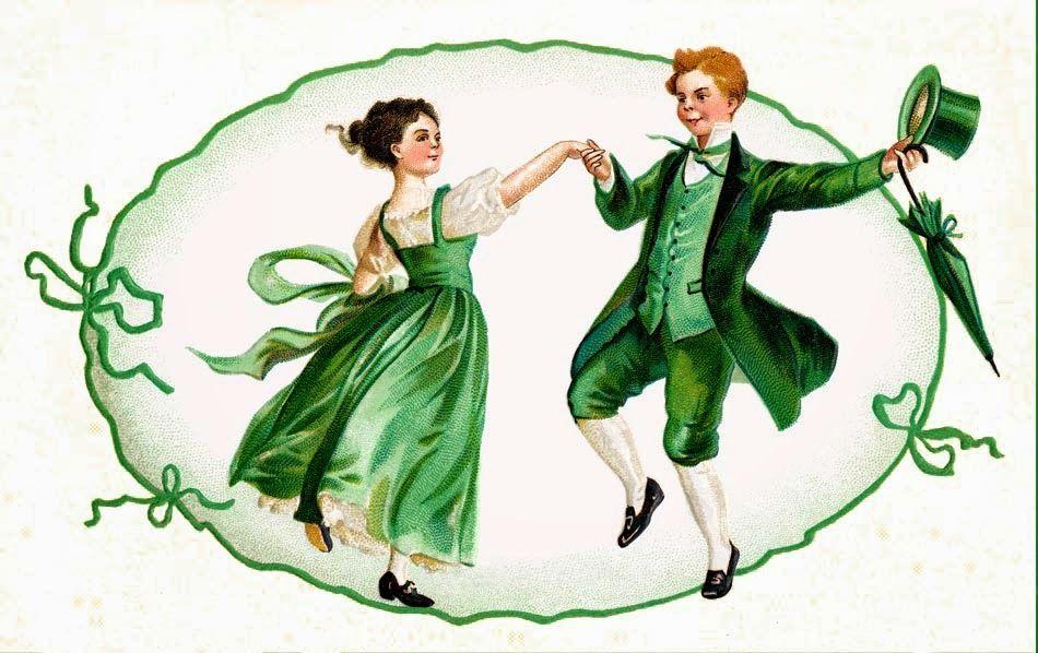 a dancing irish couple inkspired musings: the Emerald Isle and Irish Blessings