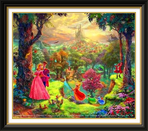 Thomas Kinkade - Sleeping Beauty. I loved the hidden ...