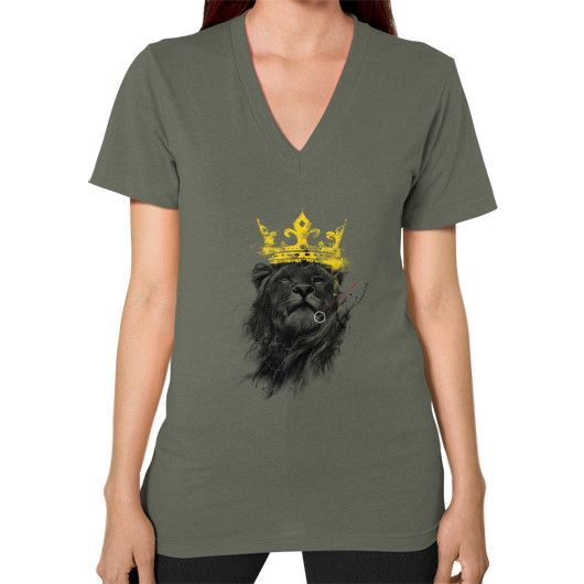No King V-Neck (on woman)
