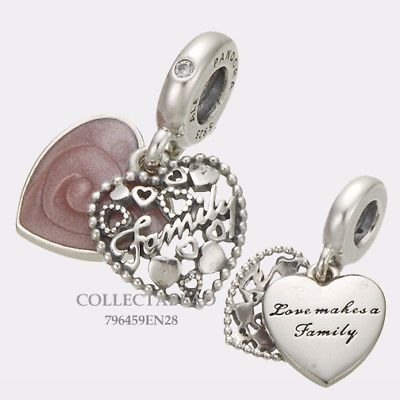 ce6bd2c81 Charms and Charm Bracelets 140944: Authentic Pandora Silver Love Makes A  Family Pink Enamel And Cz Bead 796459En28 -> BUY IT NOW ONLY: $39 on eBay!