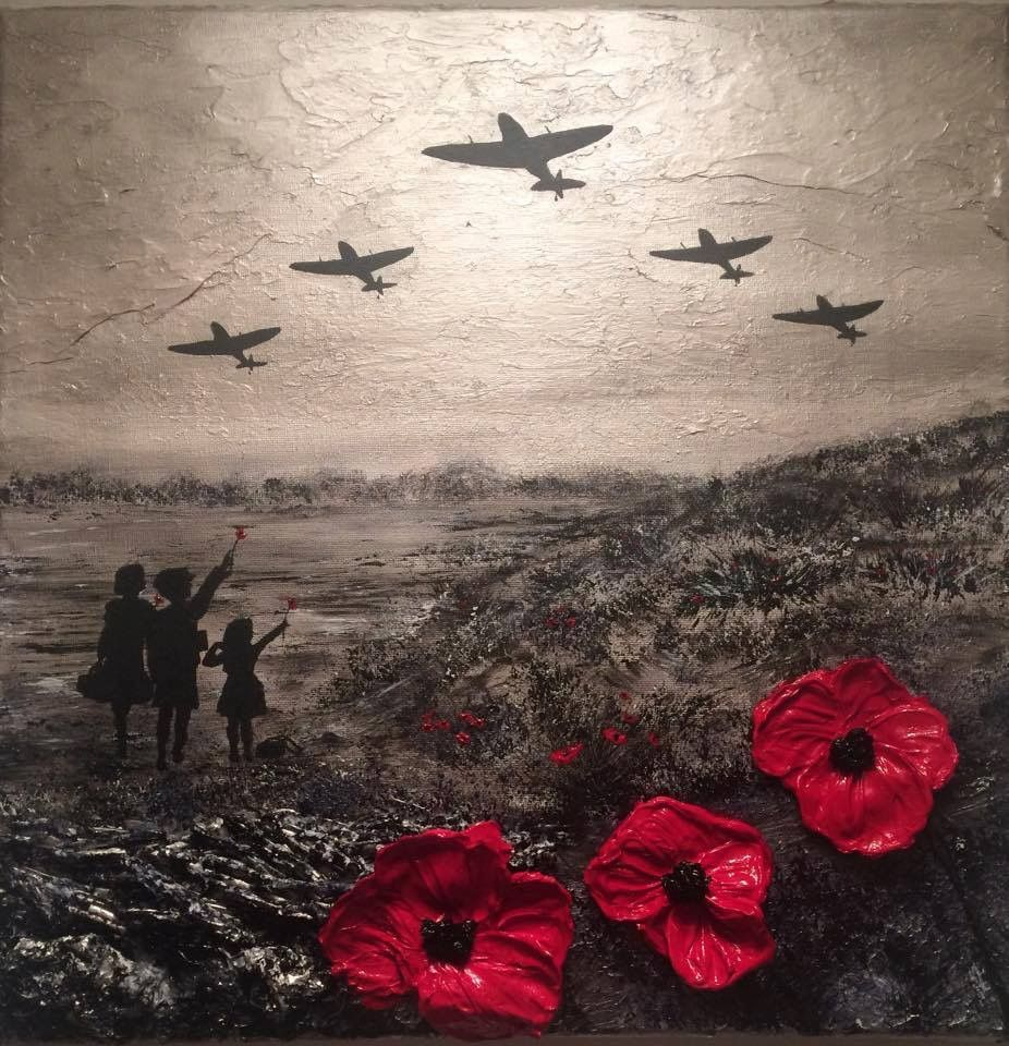 For the Few' by Jacqueline Hurley War Poppy Collection 1939-1945 WW2