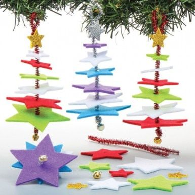 Star Christmas Tree Decoration Kits Tree decorations, Glitter